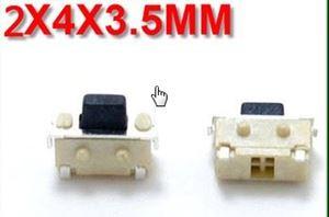 Imagen de Pulsador tacto 2 pin 2x4x3,5mm lateral