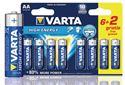 Imagen de Pack 8 x 1,5V LR6 AA VARTA 6+2