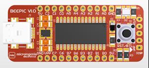 Imagen de Modulo entrenador BEEPIC V1.0 con PIC18F2550, con bootloader