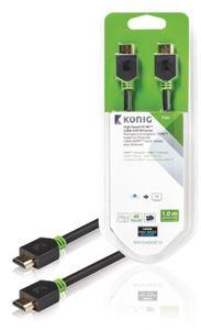 Imagen de Cable video HDMI 1.4 macho 1m Blister Konig