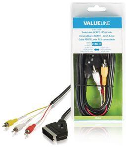 Imagen de Cable Euro 3 RCA conmutador Blister Valueline