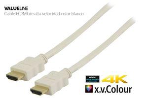 Imagen de Cable video HDMI 1.4 macho macho 19p 1m Blanco