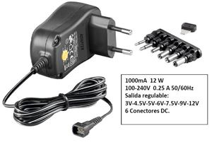 Imagen de Fuente universal 1A 12W 3-12VDC US100