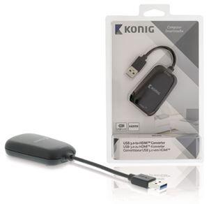 Imagen de Convertidor USB 3.0 a HDMI T.Grafica Konig