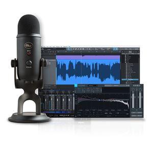 Imagen de Pack de micrófono USB y software producción musical BLUE YETI BLACKOUT STUDIO