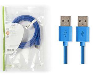 Imagen de Cable USB 3.0 A-A 2mts Nedis Azul
