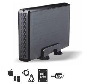 Imagen de Caja Externa 3.5' USB2 TooQ SATA TQE3509b