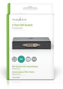 Imagen de Conmutador DVI-D bidireccional 2 puertos Nedis