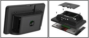 Imagen de Caja plastica negra para Raspberry pi 4 y LCD Tactil 7'