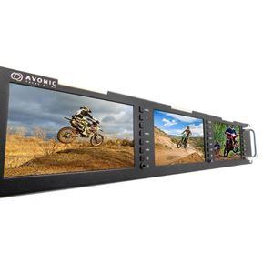 Imagen de Triple monitor de 5' formato rack AV-MN500