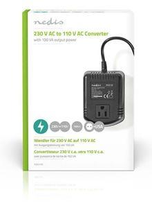 Imagen de Transformador 220V-110 EU-USA 100W Nedis