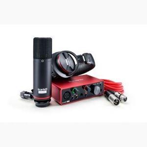 Imagen de Kit de grabacion interfaz microfono, auriculares SCARLETT SOLO ST 3G