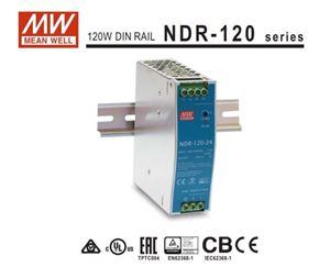 Imagen de Mean Well Fuente carril DIN 24v 5A serie NDR