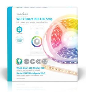 Imagen de Tira led RGB Wifi 5mts IP65 Android iOS Nedis