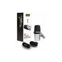 Imagen de Microfono vocal dinamico hibrido XLR/USB plateado MV7-S