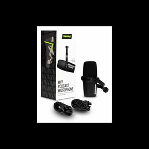 Imagen de Microfono vocal dinamico hibrido XLR/USB negro MV7-K