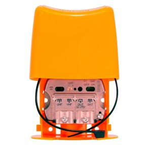 Imagen de Amplificador Mastil NanoKom 3e/1s 'EasyF': UHF[dc]-VHFmix-FImix[dc] G 24 Televes