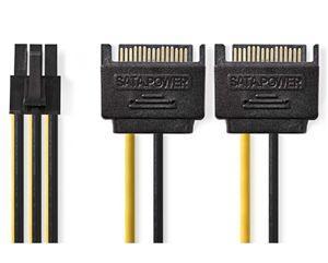 Imagen de Cable 2xSata 15p PciExpress 0.20cm Nedis
